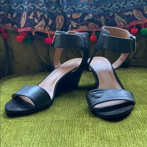 Nine West Black Wedge Sandal